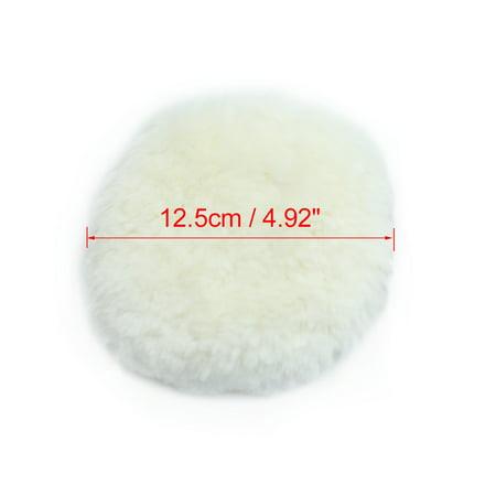 """2pc 5"""" Single Side Blanc Laine synthétique Polissage Voiture Pads fartage - image 3 de 4"""