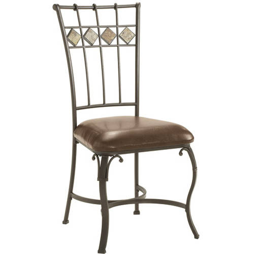 Hillsdale Lakeview Dining Chairs, Set of 2, Slate & Metal Finish
