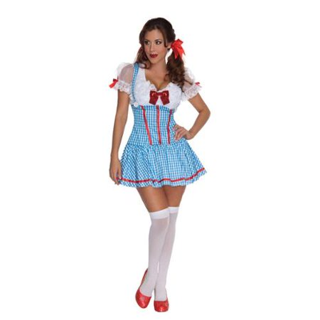 Wizard Of Oz Sexy Dorothy Red Sequin Bow Dress Costume Adult Large 10-14