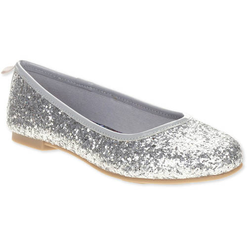 Faded Glory Girls' Dazzle Ballet Flat Casual Shoe by