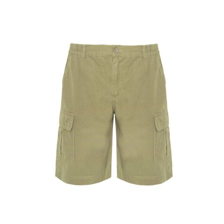 Men's Bermuda Cargo Shorts With Side Pockets - Work Utility Leisure - 100% Cotton Light Weight