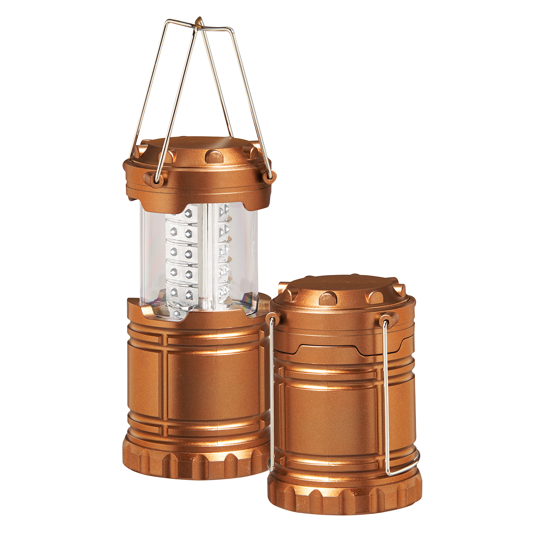 Equipped Outdoors LED Camping Lantern for Hiking, Emergencies, or Tent Light (2 Pack)
