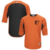 Baltimore Orioles Majestic Authentic Collection On-Field 3/4-Sleeve Batting Practice Jersey - Orange/Black