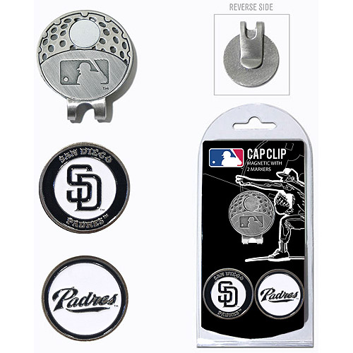 Team Golf MLB San Diego Padres Cap Clip With 2 Golf Ball Markers