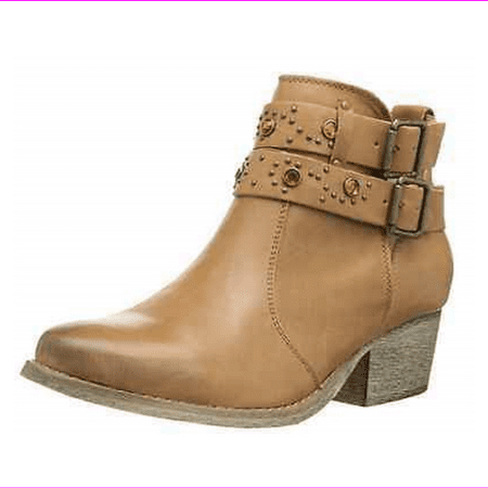 Betsey Johnson Women's Willow Ankle Boot, Tan,  Size US 7.5