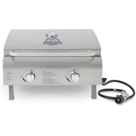 Portable Gas Cookers - Pit Boss 2-Burner Portable Gas Grill, Stainless Steel