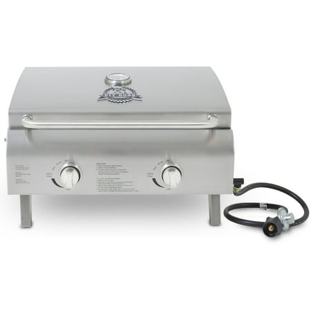Pit Boss 2-Burner Portable Gas Grill, Stainless