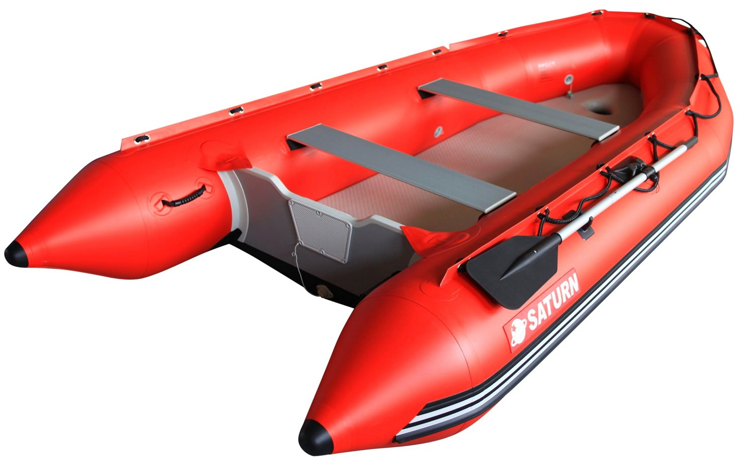 Saturn Inflatable Motor Boat Dinghy Raft SD385 by Saturn Boats