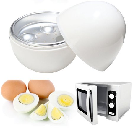 Microwave Egg Boiler, LNKOO Egg Microwave Cooker Only 8 Minutes for Hard or Soft Boiled Eggs No Piercing Required, Dishwasher Safe,Microwave Egg Cooker for 4 Eggs