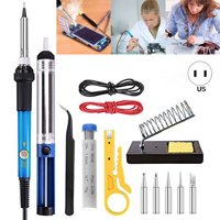 Iuhan Soldering Iron Kit Electronics, 60W Adjustable Temperature Welding Tool