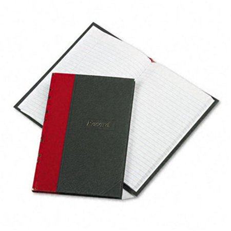 Boorum & Pease  Record/Account Book- Black/Red Cover- 144 Pages- 7 7/8 x 5 1/4 Pease Account Record Book