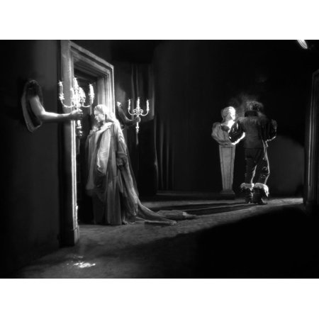 La Belle and la Bete by JeanCocteau with Josette Day and Jean Marais, 1946 (b/w photo) Print Wall Art (Belles Photos D'halloween)