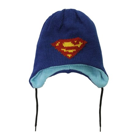 b9031206bc1 DC Comics Funko Bioworld Light Blue Reversible Pop Heroes Superman Beanie  Hat - Walmart.com