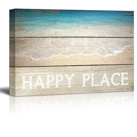 wall26 Marine Theme Canvas Wall Art - Beautiful Beach - Giclee Print Modern Wall Decor   Stretched Gallery Wrap Ready to Hang Home Decoration - 12x18 inches ()
