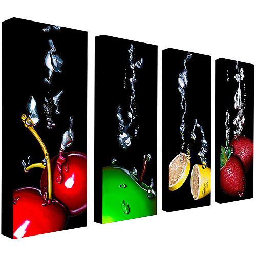 "Trademark Art ""Splash III"" Canvas Art by Roderick Stevens, 4-Piece Set"