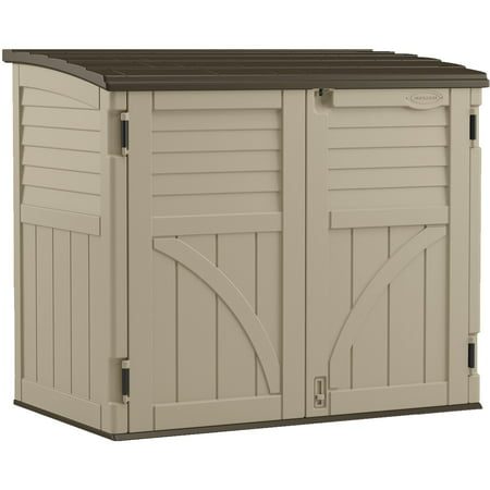 Suncast 34 cu. ft. Horizontal Resin Storage Shed, Sand, BMS3400