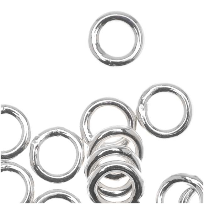 Silver Plated Closed 5mm Jump Rings 18 Gauge (20)