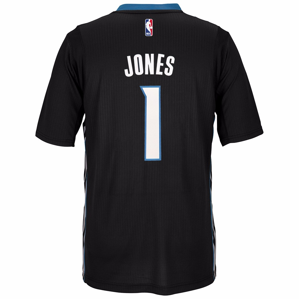 Tyus Jones Minnesota Timberwolves NBA Adidas Black Official Climacool Pride Swingman Jersey For Men
