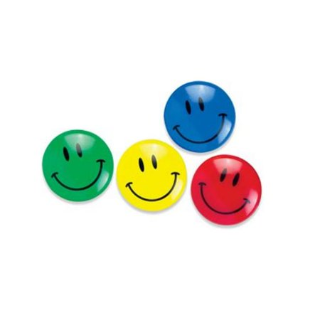 Smiley Face Magnets Hexagonal Tub Display of 24 ASSORTED Colors ()