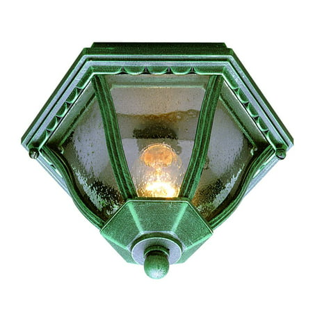 Trans Globe Lighting 4558 Single Light Down Outdoor Flush Mount Ceiling Fixture From The