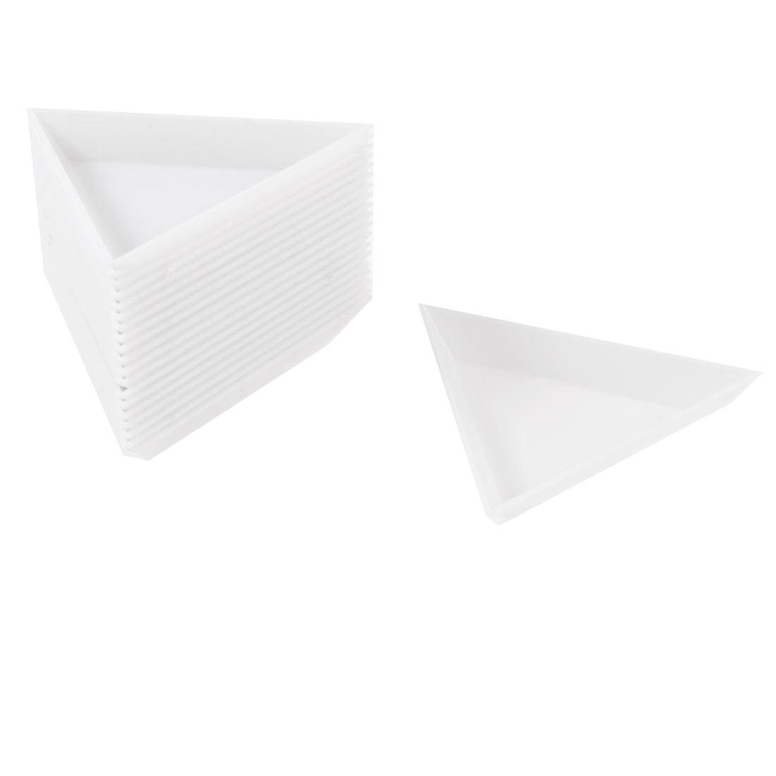 Unique Bargains Unique Bargains Jewelry Components Plastic Storage Dish Plate White 20 Pcs