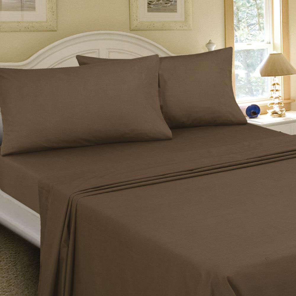 Mainstays 200 Thread Count Queen Flat Sheet Collection, 1 Each
