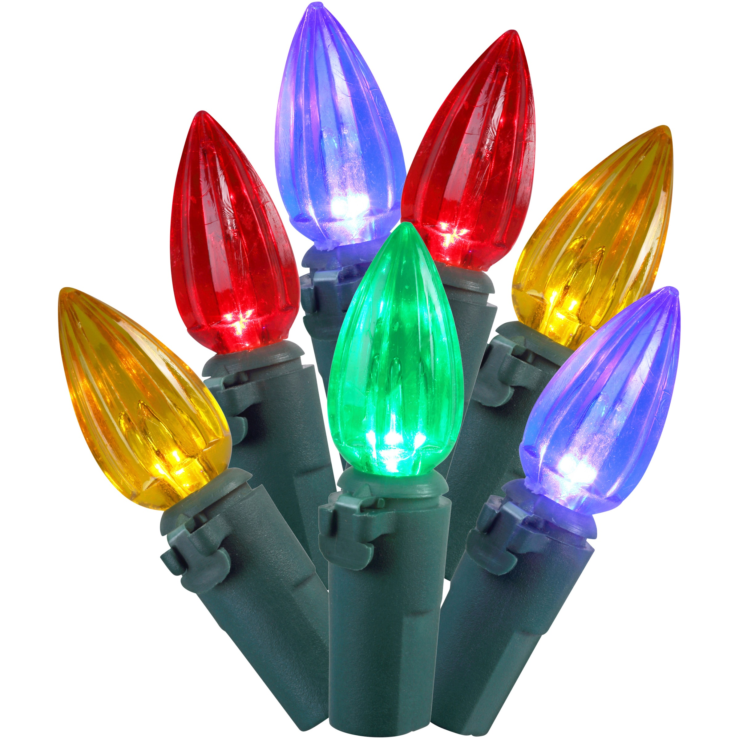 Holiday Time Indoor & Outdoor LED Multicolor C3 Lights, 50.5', 225 Count