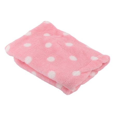 Women Dot Pattern Trianglular Shower Bath Hair Dry Wrap Towel Cap Hat Pink 60cm - image 2 de 3
