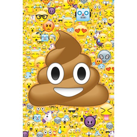 Emoticon Collage Funny Poster 24x36 inch