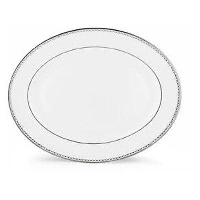 Lenox Pearl Platinum 13 in. Oval Platter