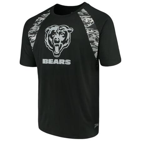 size 40 01618 d77b6 Men's Zubaz Black Chicago Bears Camo Raglan T-Shirt