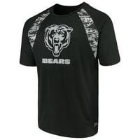 Product Image Men s Zubaz Black Chicago Bears Camo Raglan T-Shirt a7284a092
