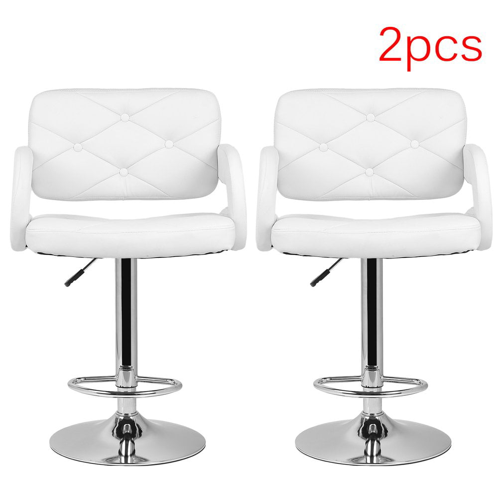 2PCS Adjustable PU Leather Swivel Bar Stools Pub Chair Modern Office Company Cafe Room Living Room Stool Home... by