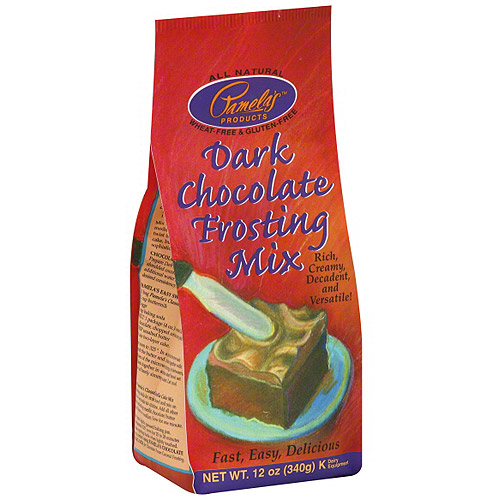 Pamela's Products Dark Chocolate Frosting Mix, 12 oz (Pack of 6)