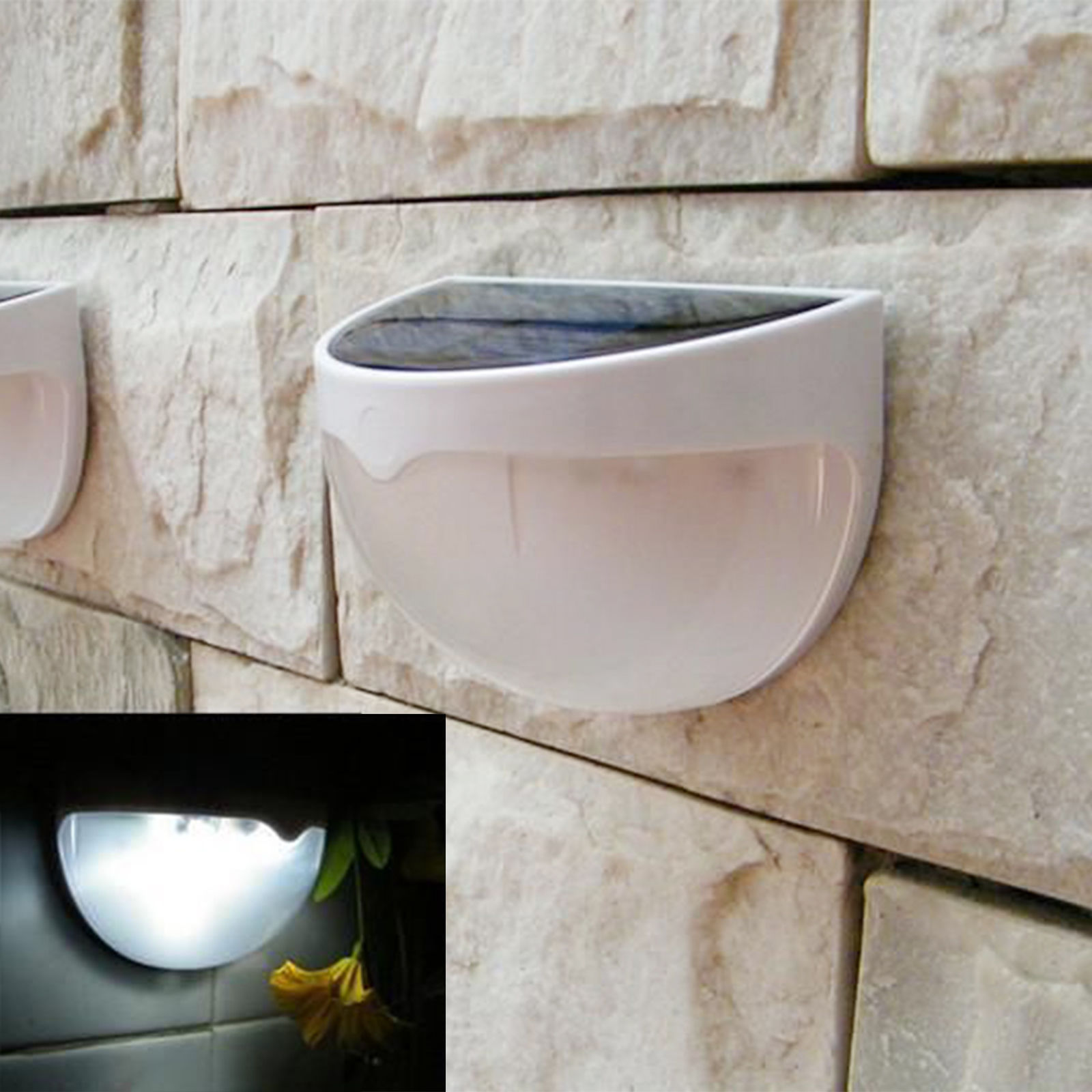 Zimtown Waterproof 6 LED Solar Power Light Sensor Wall Light Outdoor Garden Fence Lamp