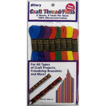 Allary Craft Thread / Floss 8 Skeins, 8 Yards Per Skein