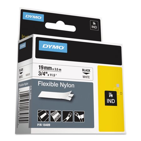 Dymo 24 Mm Rhino (DYMO Rhino Flexible Nylon Industrial Label Tape, 3/4