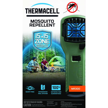 Thermacell MR300 Portable Mosquito Repellent Device, Olive (Best Mosquito Repellent For Camping)