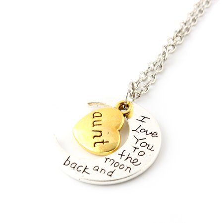 Fashion Jewelry I Love You Family Mom Birthday Gift Pendant Necklace for Women Girl - Aunt - Girl Necklace