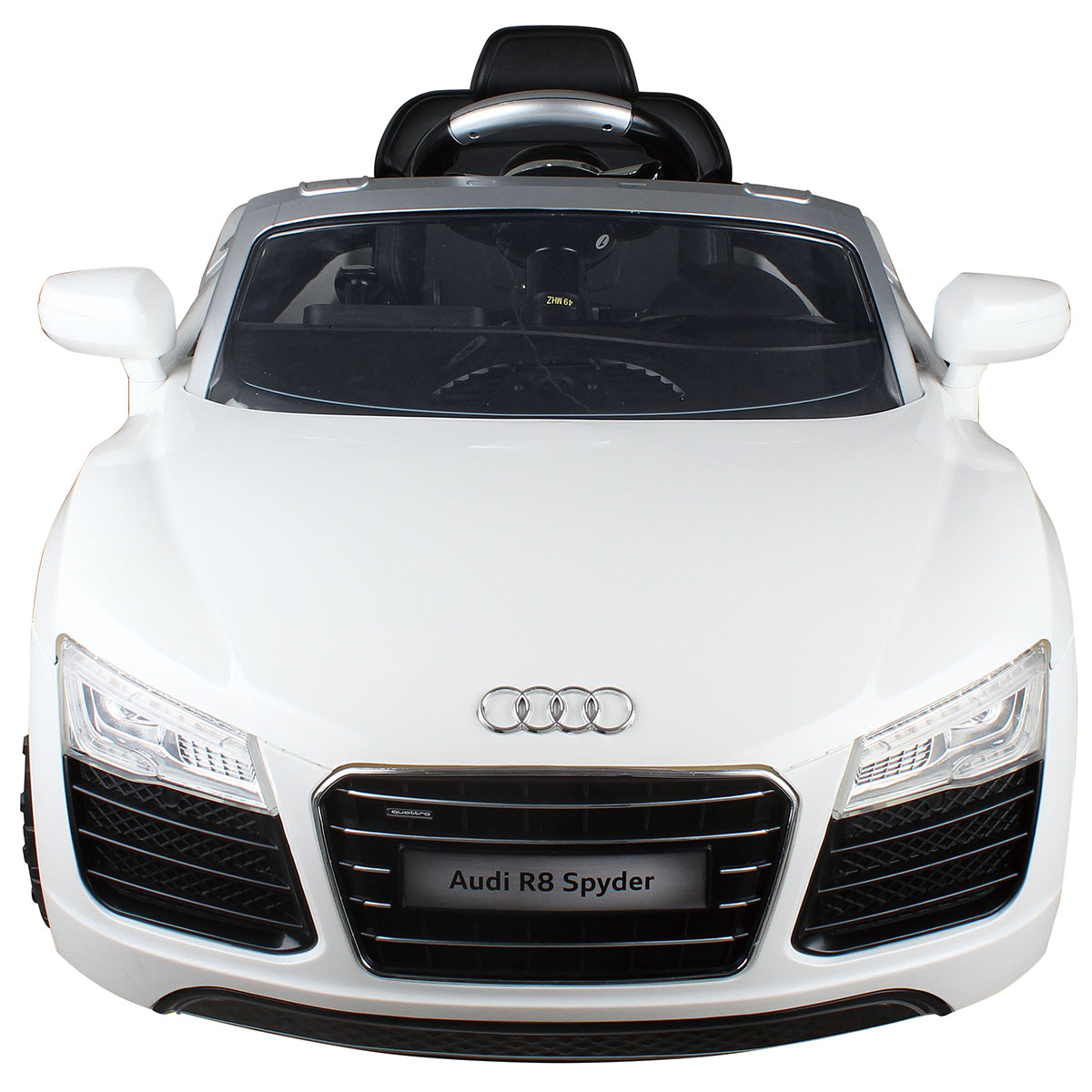 Costway White Audi Kids 12v Electric Ride On Car With Mp3 Rc Remote Control