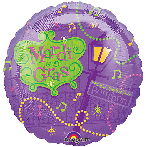 Mardi Gras Bourbon Foil Balloon