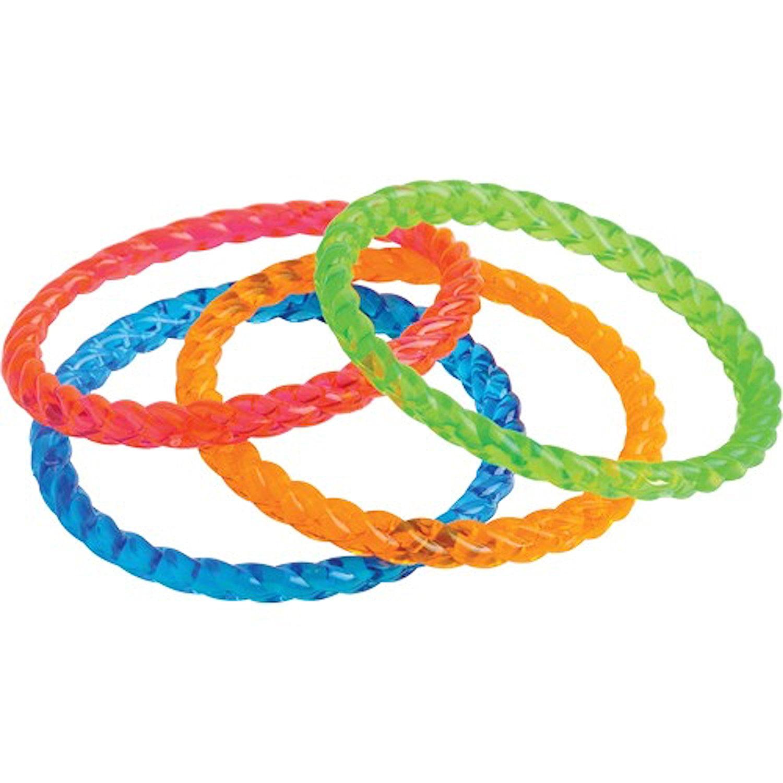 U S Toy Lot Of 12 Orted Color Child Size Plastic Bangle Bracelets By