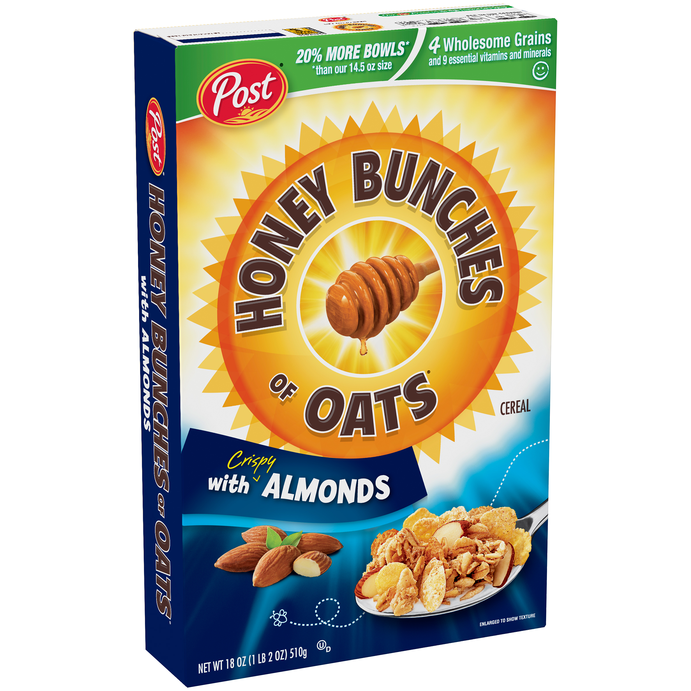 Post® Honey Bunches of Oats® with Crispy Almonds Cereal 18 oz. Box