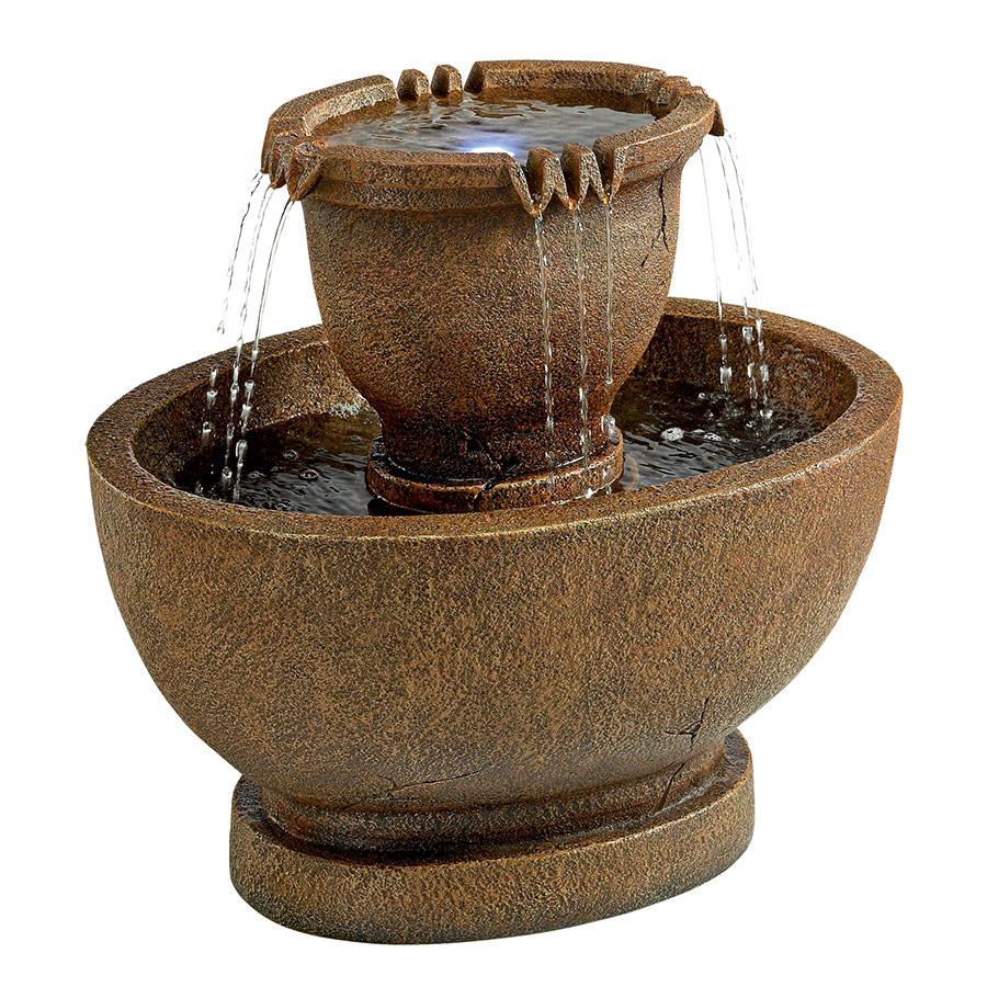 Richardson Oval Urns Cascading Garden Fountain: Large