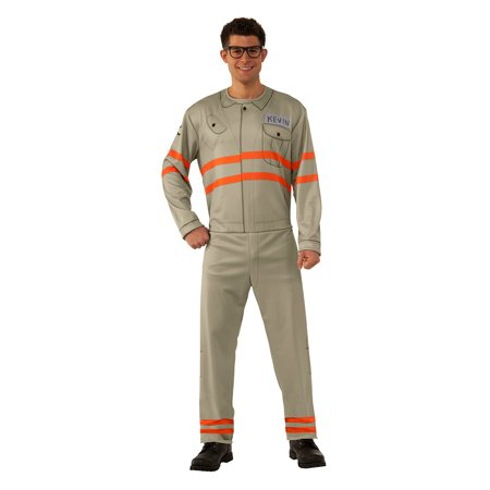 Mens Kevin Ghostbusters Halloween Costume](Tan Firefighter Costume)