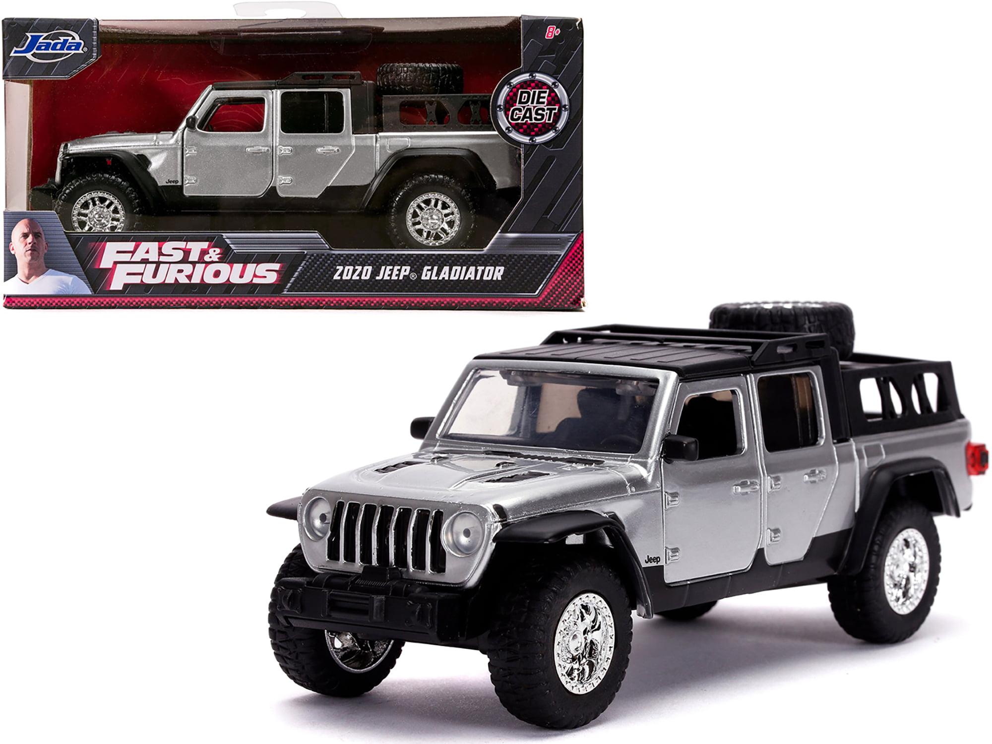 Jeep Wrangler Gladiator Pickup Truck 1:32 Die Cast Modellauto Spielzeug Schwarz