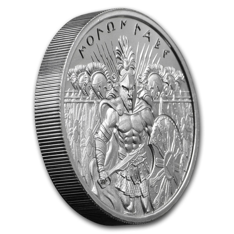 2 oz .999 Fine Silver High Relief Round Molon Labe Type 6 Type VI IN STOCK!!