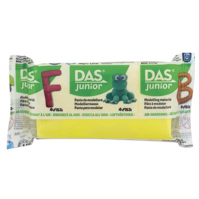Yellow Hand Painted Clay (Das Junior Air-Dry Clay - Yellow, 100g )