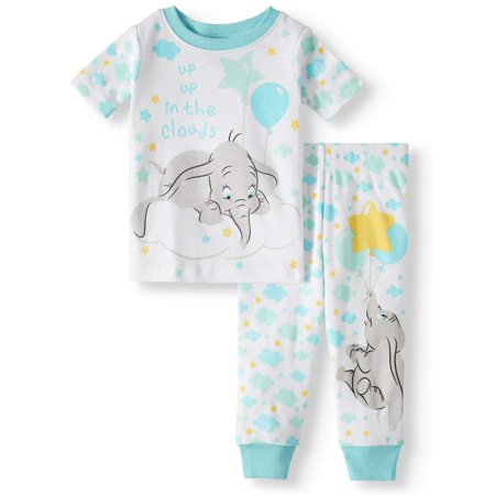 Baby Boys' Dumbo Cotton Tight Fit Pajamas, 2-Piece Set