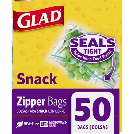 Best Glad Zipper Food Storage Snack Bags - 50 ct deal